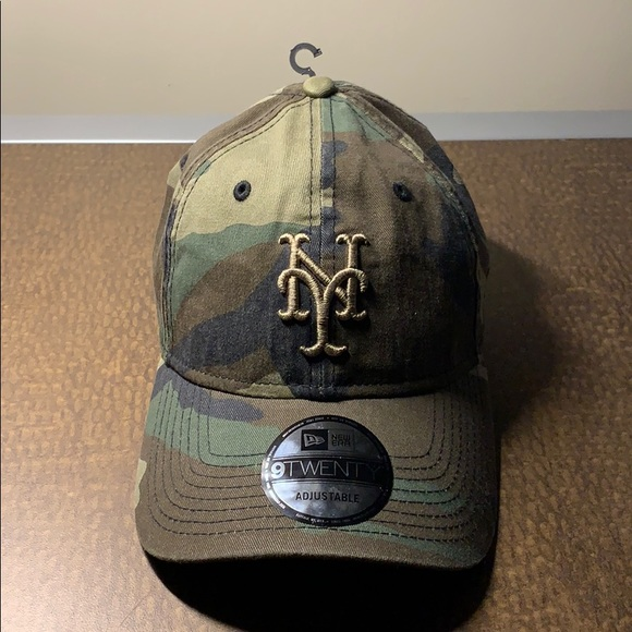 New York Mets Camo Adjustable Hat. M 5c47cdacaaa5b84082f92864 248552388